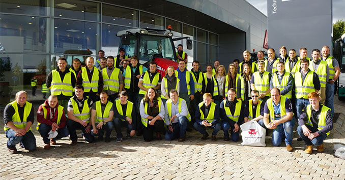 Young farmers enjoy the Massey Ferguson Beauvais experience